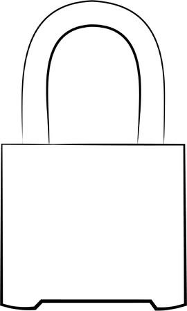 Padlock design no color