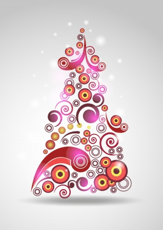 newyear: Abstract new-year tree Illustration