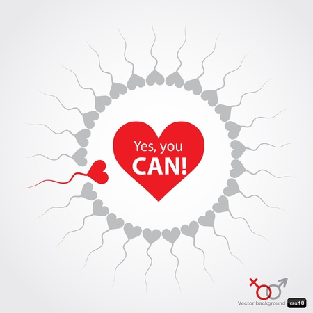 Yes, you can! Stock Vector - 9749374