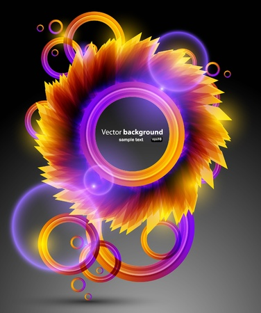 portals: Modern color background with neon lights like stars Illustration
