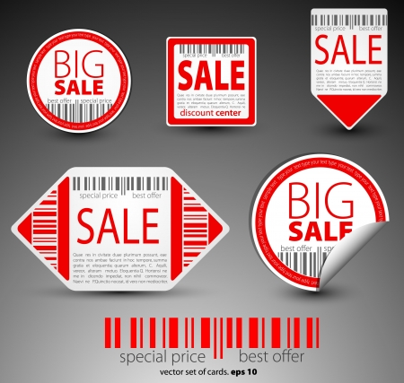 Color sale objects Vector