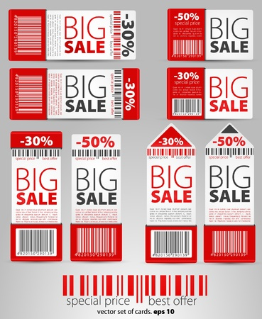 Set of red vector sale tickets  Vector