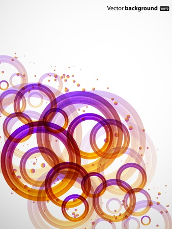 wit: Abstract background wit color circles