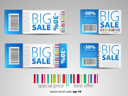 promotional offer: Set of color vector sale tickets