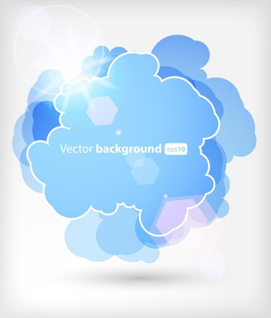 Background with an abstract cloud Stock Vector - 10077377