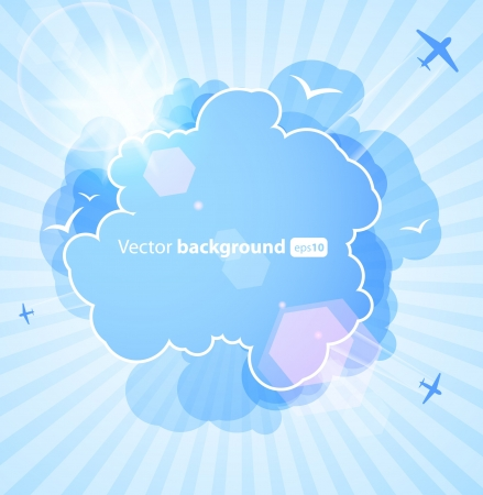 Background with an abstract cloud Vector