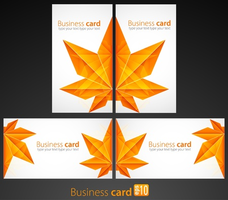 Business cards Stock Vector - 10077379
