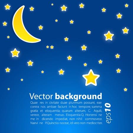star sky with  moon. Vector
