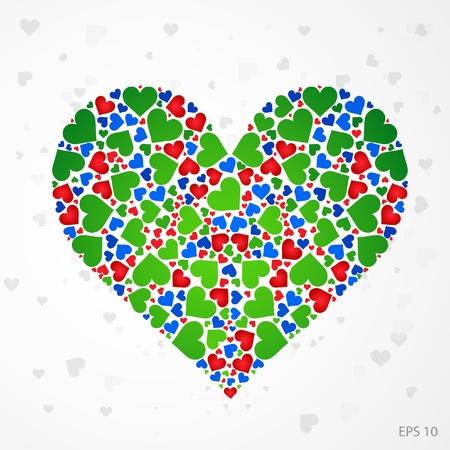 Vector Illustration color heart Stock Vector - 10788043