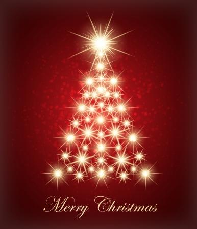 glowing lights: Christmas tree made with glowing lights