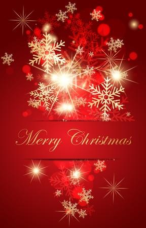 Abstract christmas card. Vector