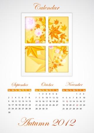 Calendar. Autumn 2012 Stock Vector - 10788110