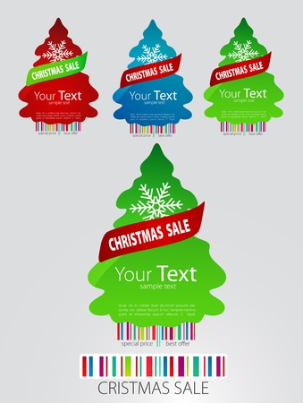 Nice set of icons for new-year sale. Vector