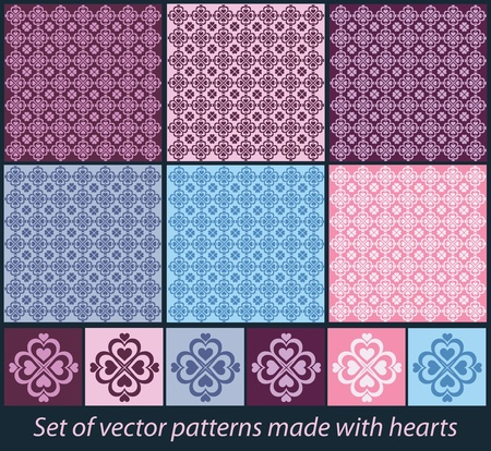 valentine seamless hearts pattern Stock Vector - 10788161