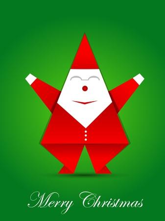 Origami santa claus Vector