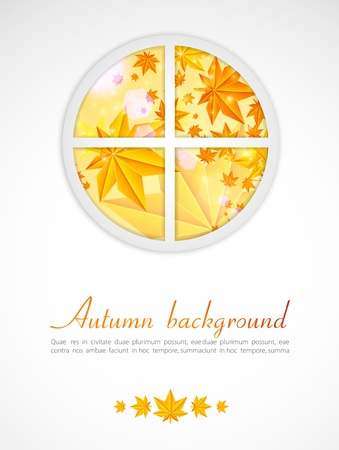 Autumn after a window Vector