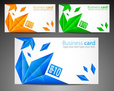 Set of Modern Business Cards Stock Vector - 10788114