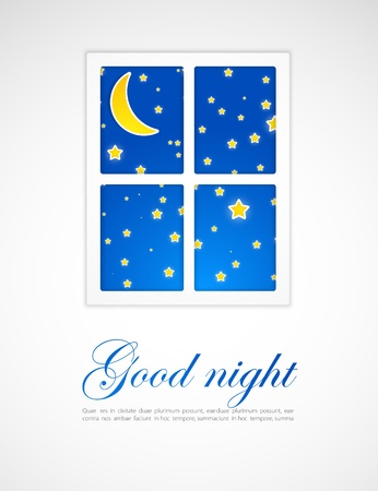 Night after a window Vector
