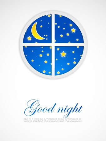 Night after a window Stock Vector - 10798112