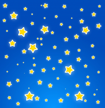 starlit: At night. Sky with stars. Vector