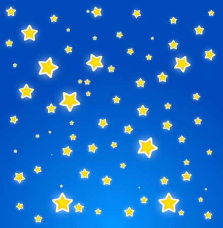 costellazioni: Durante la notte. Cielo con le stelle. Vettore Vettoriali