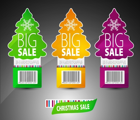 Set for christmas sale. Vector