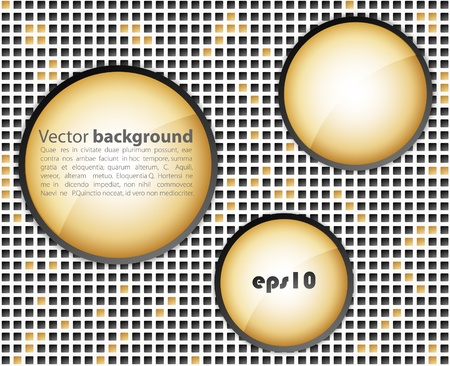 Dark  business mosaic with round shapes. Vector
