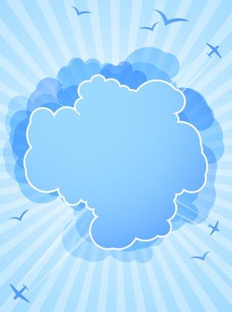 Background with cloud. Illustration illustration