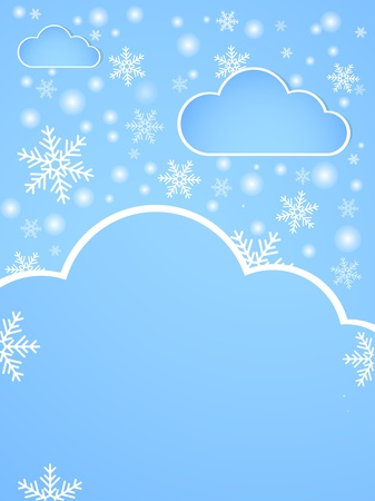 Winter background with snow. Illustration illustration