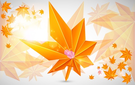 Autumn background with bright light Vector