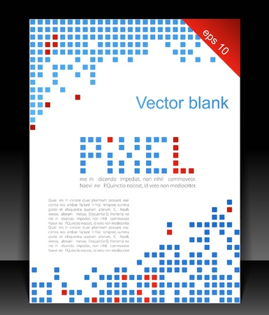 Abstract blank. Pixel art.