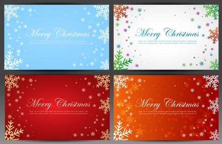 Set of christmas  New Year banners (cards)  Vector