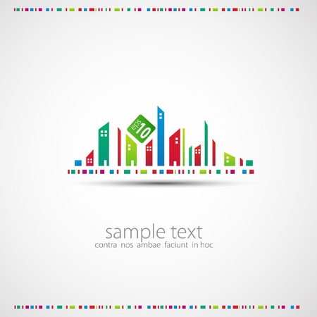 Abstract background. City theme.