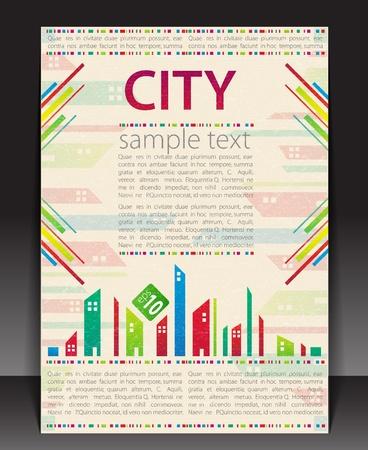 Retro blank. City theme. Vector