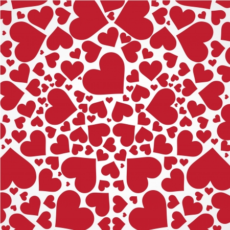 Red hearts background on white. Stock Vector - 11057189