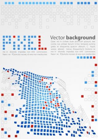 Abstract background. Pixel art. Stock Vector - 11057183