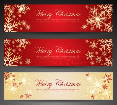 Winter theme web banners. Illustration