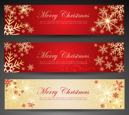 merry christmas banner: Winter theme web banners. Illustration