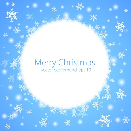Abstract winter background. Vector Vector