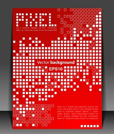 halftone cover: Pixel art. Vector