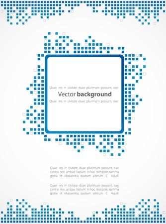 mosaic art: Pixel art. Vector