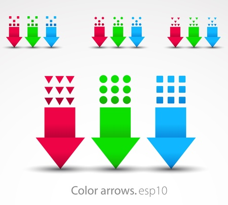 down arrow: Vector arrows.