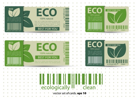 Les labels écologiques avec design vintage rétro. Vecteur
