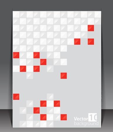 Pixel art. Vector blank. Ilustração