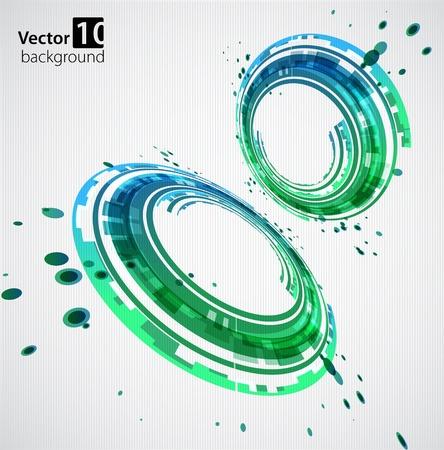 elipse: Vector abstracto fondo verde