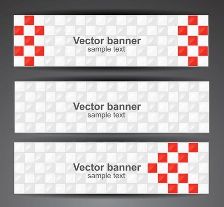 Web pixel banners  Vector Ilustração