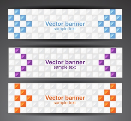 Web pixel banners  Vector Vector