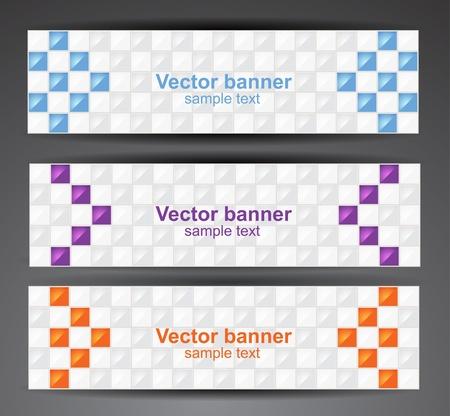 spot clean: Web pixel banners  Vector Illustration
