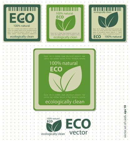 Eco etichette con retro Vector design vintage