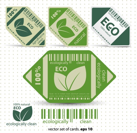 Eco labels with retro vintage design  Vector Stock Vector - 12470336